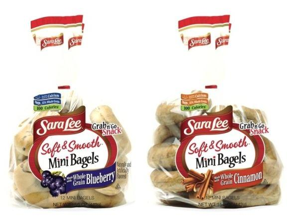 sara lee soft smooth mini bagels blueberry and cinnamon