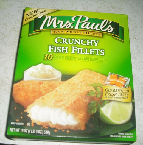mrs pauls crunchy fish fillets box