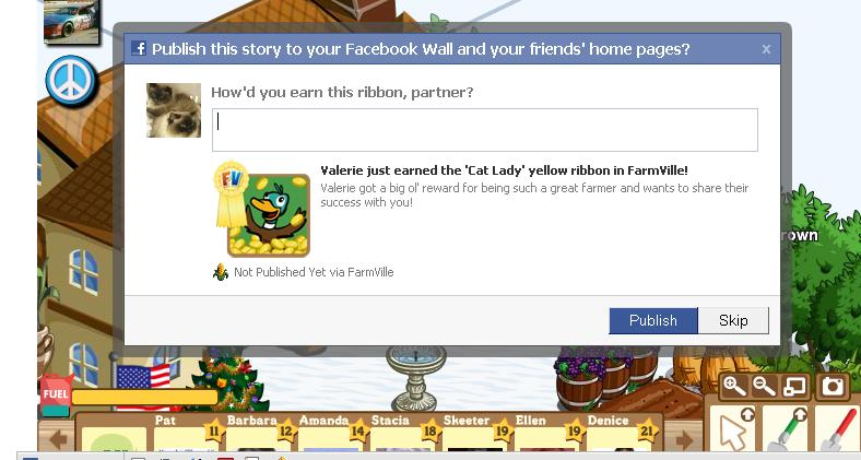 val farmville cat lady message