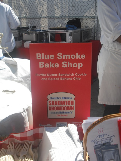 Blue Smoke Bake Shop Sign