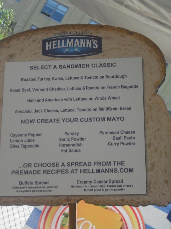 Hellmanns Sandwich Board