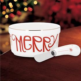 Lenox Eat Drink Be Merry Dip Bowl