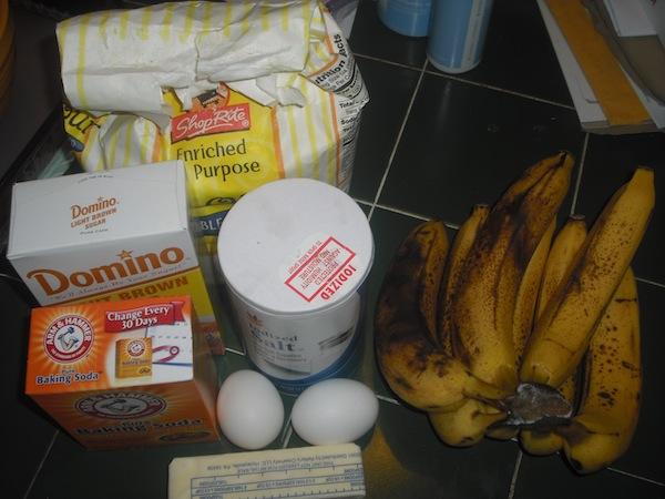 Valmgs Banana Bread Ingredients