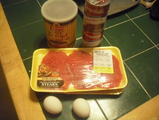 Cube Steak Ingredients