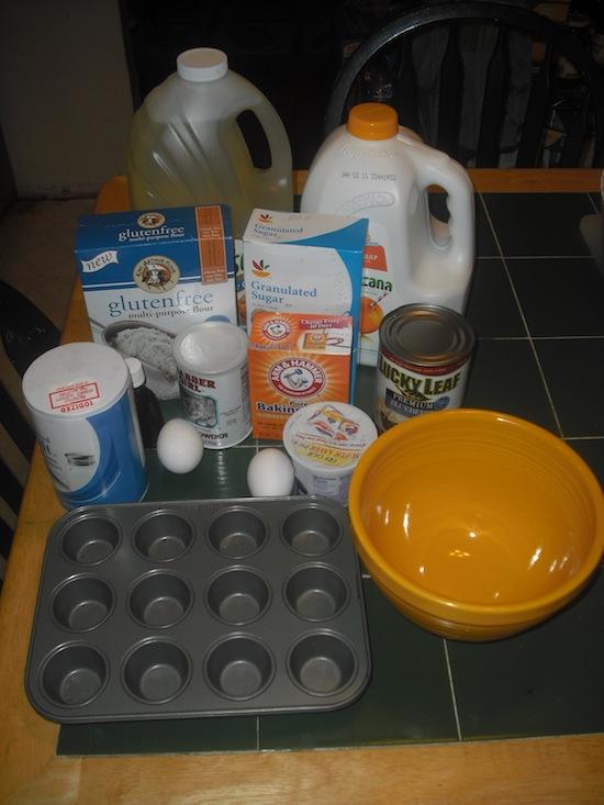 Gluten-free Blueberry Muffins Ingredients