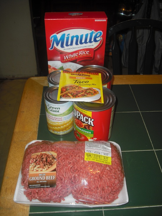 Taco Beef Rice Casserole