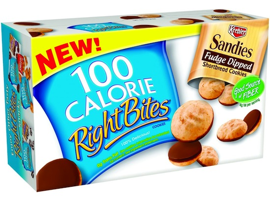 Keebler Right Bites Fudge Dipped Sandies Box