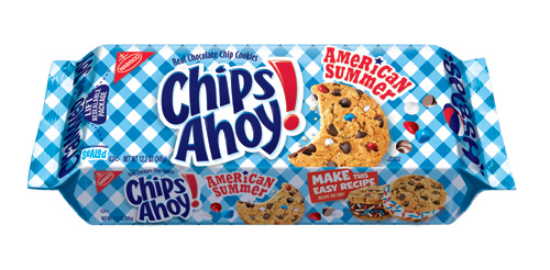 Chips Ahoy American Summer cookies