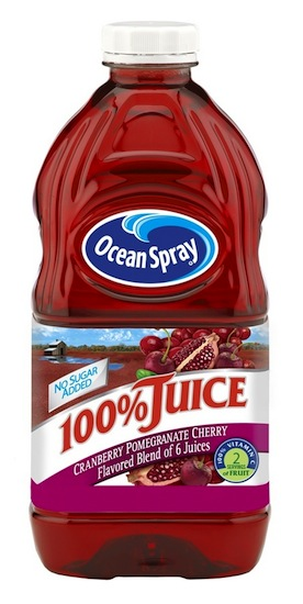 Ocean Spray Cranberry Pomegranate Cherry Bottle