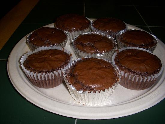 Oreo Fudge Brownie Muffins Side