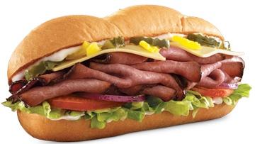 Arbys Angus Cool Deli Sandwich