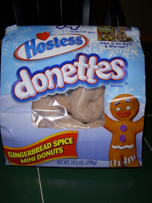 Hostess Gingerbread Spice Donettes