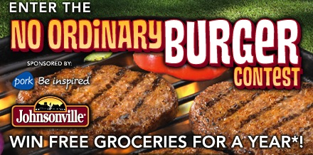 Johnsonville No Ordinary Burger Contest Banner