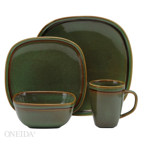 REVIEW - Oneida Asheville Green Stoneware Dinnerware - From Valu0027s Kitchen  sc 1 st  From Valu0027s Kitchen : green stoneware dinnerware - pezcame.com