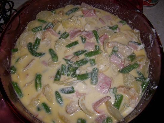 valmgs Chicken Green Bean And Bacon AuGratin Casserole Recipe