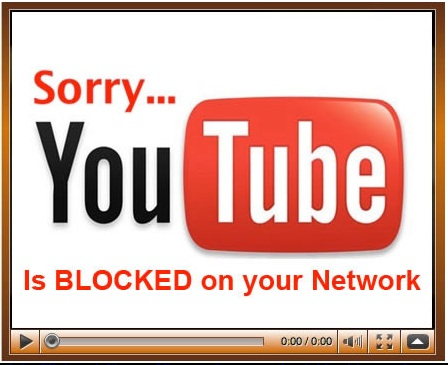 Youtube Blocked Sign
