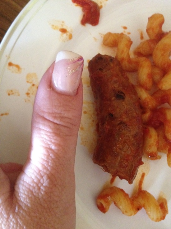 Wordless Wednesday - All Thumbs?