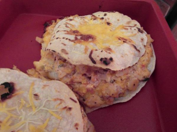 valmgs Cheesy Salsa Chicken Tortilla Sandwiches recipe