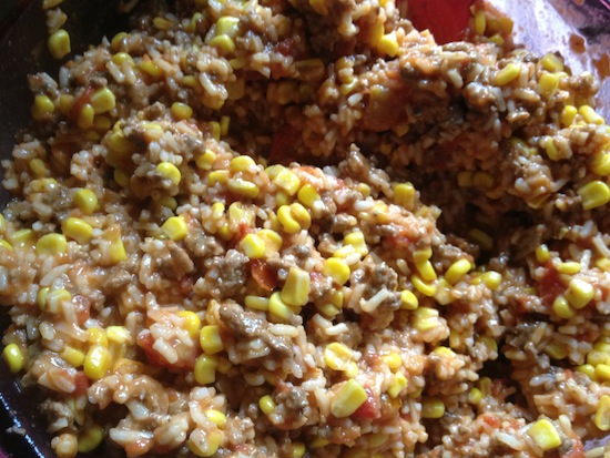 valmgs Quick And Easy Cheesy Taco Beef Rice Casserole recipe