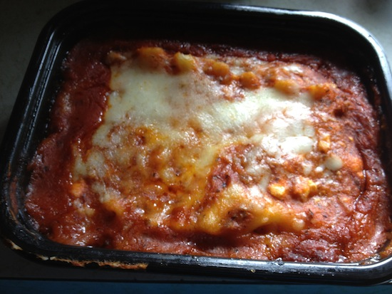 Stouffers Lasagna Cooked