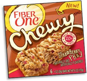 Fiber One Chewy Strawberry PB&J bars