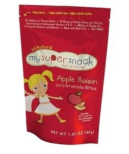 MySuperSnack Soft Granola Bites - Apple Raisin