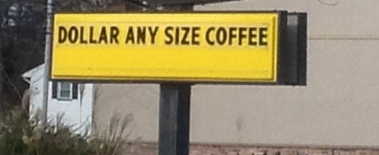 Wordless Wednesday - Any Size Coffee One Price
