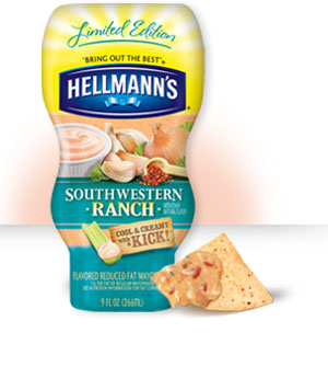 Hellmanns Southwestern Ranch Reduced Fat Mayonnaise