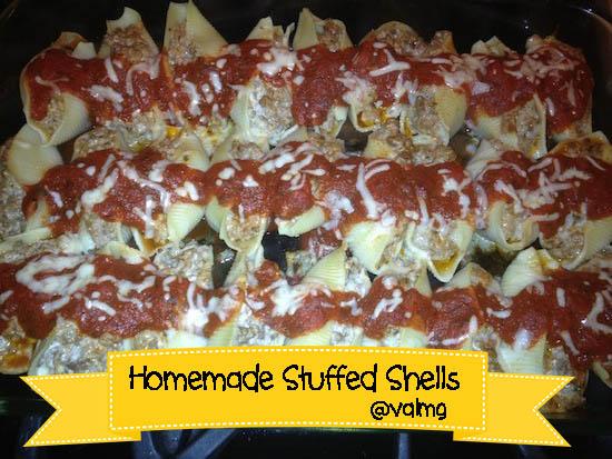 Homemade Stuffed Shells recipe