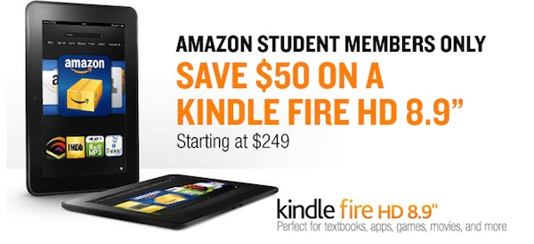 Amazon Student - Get $50 Off Kindle Fire HD