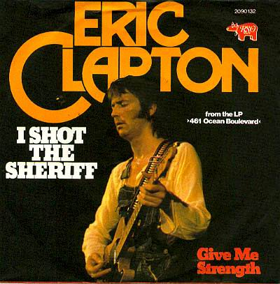 Eric Clapton album cover, I Shot The Sheriff