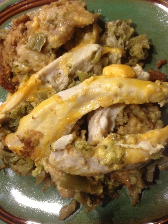 valmg's Cheddar Broccoli Chicken Crockpot Casserole recipe