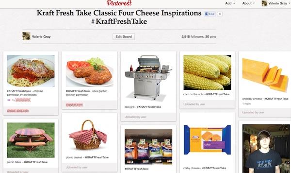 #KraftFreshTake Pinterest board