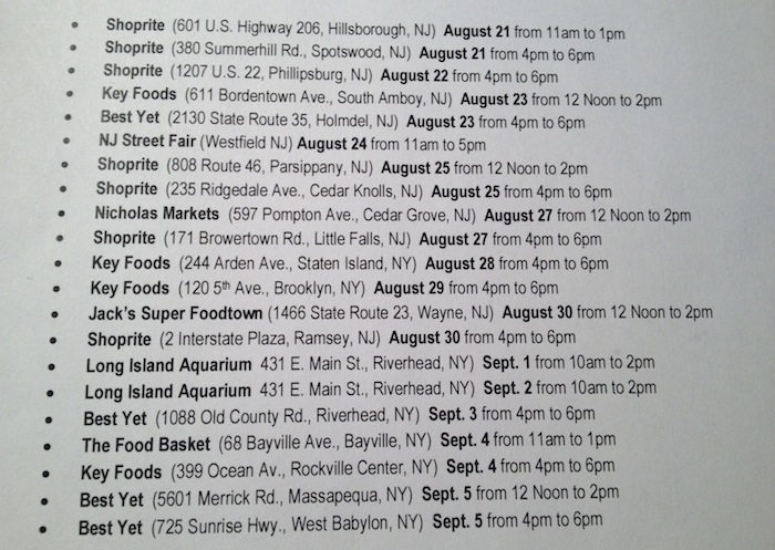 2013 Dole Peel The Love Ny Tour Dates