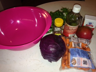 Shredded Chicken Tacos With Red Cabbage And Mango Slaw #Recipe