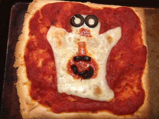 Gluten-free Ghost Pizza recipe