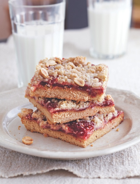 Peanut Butter And Jam Pie Bars recipe
