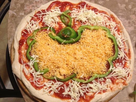 Chedderella Pumpkin Pizza
