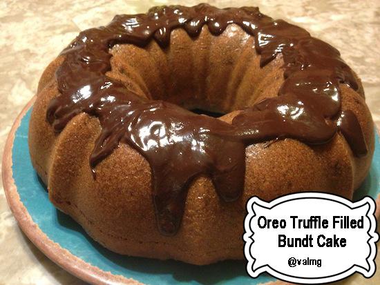 Easy Oreo Truffle Filled Bundt Cake Recipe