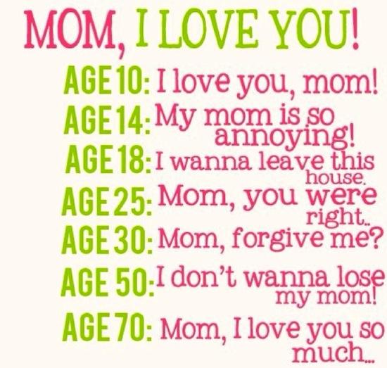 Mom I Love You Thru The Ages