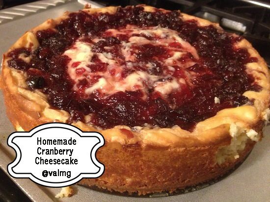 Homemade Cranberry Cheesecake Recipe