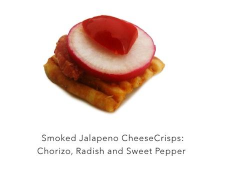 Easy Yet Elegant #Appetizers! John Wm. Macys CheeseCrisps with Chorizo, Radish & Sweet Pepper