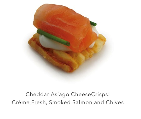 Easy Yet Elegant #Appetizers! John Wm. Macys CheeseCrisps with Creme Fresh, Smoked Salmon & Chives