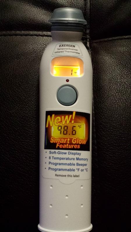 Exergen Smart Glow TemporalScanner Infrared Thermometer