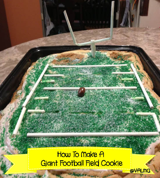 How To Make A Giant Football Field Cookie