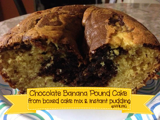 Chocolate Banana Pound Cake Recipe - How to make pound cake from Jell-o and a boxed cake mix