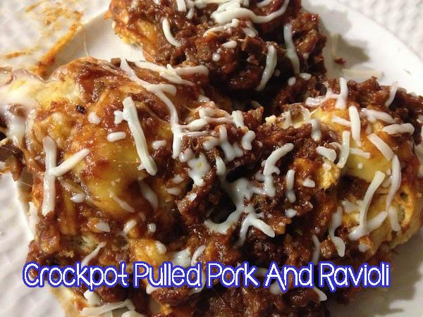 Crockpot Pulled Pork And Ravioli #Slowcooker #Recipe