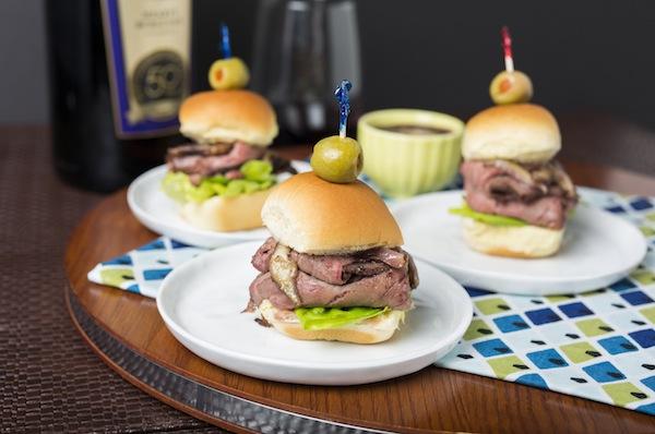 Gallo Family Vineyards Hearty Burgundy Food Pairing Recipes - Roast Beef Sliders