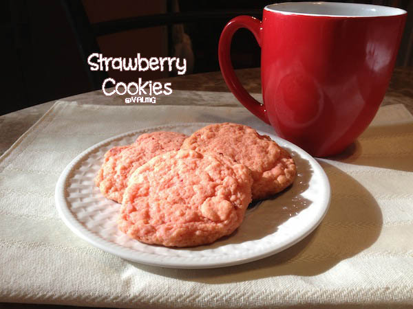 Strawberry #Cookies - This Easy #Recipe Takes Only 15 Minutes To Make!