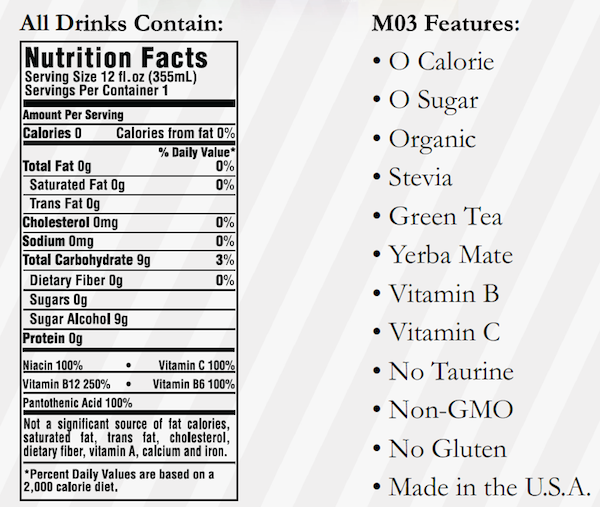 Marquis O3 Ingredients